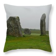Avebury's Cove Stones Throw Pillow