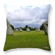 Avebury's Southern Entrance Stones Throw Pillow