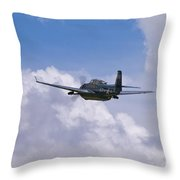 Avenger Departure Throw Pillow by Tim Mulina
