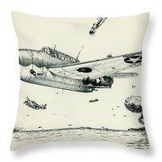 Avenger Throw Pillow by Hank Clark