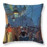 Avenue De Clichy Paris Throw Pillow by Louis Anquetin