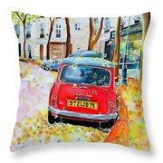 Avenue Junot In Autumn Throw Pillow
