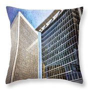 Avenue Of The Stars Throw Pillow
