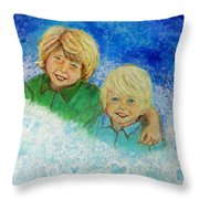 Avery And Atley Angels Of Brotherly Love Throw Pillow