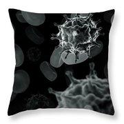 Avian Influenza Virus H5n1 Throw Pillow