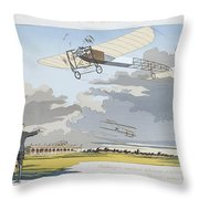 Aviation Meeting At Champagne Throw Pillow