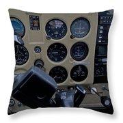 Aviation Near Jekyll Island Throw Pillow