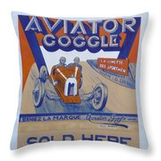 Aviator Goggle Sold Here Poster Throw Pillow