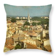 Avignon From Les Roches Throw Pillow