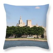 Avigon View From River Rhone Throw Pillow
