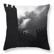 Avila Wall In Silhouette Throw Pillow