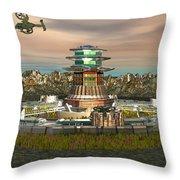 Avitar Scorpion Ship Throw Pillow