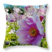 Avoca Wildflowers Throw Pillow