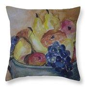 Avonelle's Fruit Bowl Throw Pillow