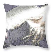 Avril Lavigne Throw Pillow