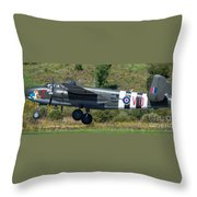 North American B-25 Mitchell Bomber Taking Off. Throw Pillow