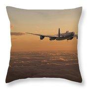 Avro Lancaster - Homeward Throw Pillow