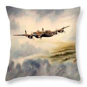 Avro Lancaster Over England Throw Pillow