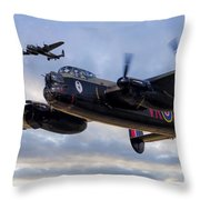 Avro Lancasters  Throw Pillow