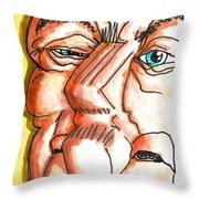 Avuncular Homunculus Throw Pillow