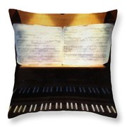 Awaiting Bach Throw Pillow