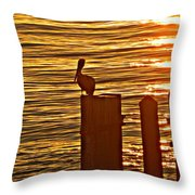 Late For Dinner Throw Pillow