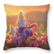 Awakening - Mt Susitna Spring - Sleeping Lady Throw Pillow