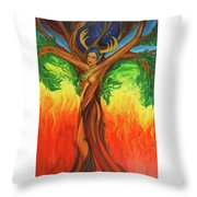 Awakening The Chakra Tree Throw Pillow
