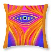 Awakening The Desert Eye Throw Pillow