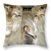 Awash In White Throw Pillow