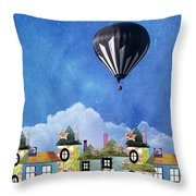 Away Above The Chimney Tops Throw Pillow