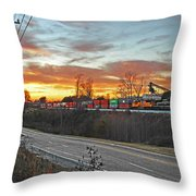 Away From The Sun Throw Pillow