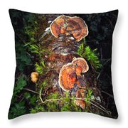 Awe Inspiring Fungi Throw Pillow