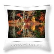 Awesome Autumn Poster Throw Pillow