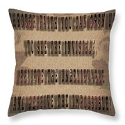 Awesome Inspiring Typography Throw Pillow