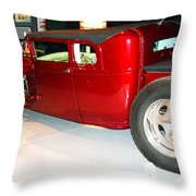 Awesome Lowered Bucket Truck Throw Pillow