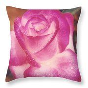 Awesome Rose Pristine Throw Pillow by Robert Bray