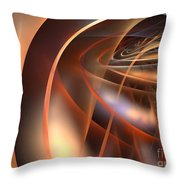 Axial Tilt Throw Pillow