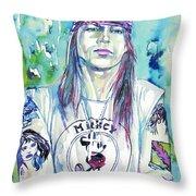 Axl Rose Portrait.1 Throw Pillow