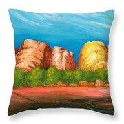 Ayers Rock End Throw Pillow