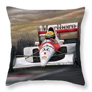 Ayrton Senna Throw Pillow