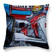 Ayrton Senna Monaco 93 Throw Pillow