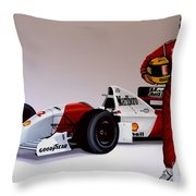 Ayrton Senna Throw Pillow
