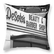 Az Route 66 - Ash Fork - Desoto's  Throw Pillow