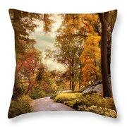 Azalea Garden In Autumn Throw Pillow