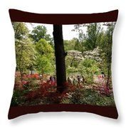 Azaleas Us National Arboretum Throw Pillow
