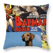 Azawakh Art - Batman Movie Poster Throw Pillow