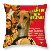 Azawakh Art - The Flame Of New Orleans Movie Poster Throw Pillow