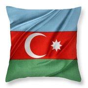 Azerbaijan Flag Throw Pillow by Les Cunliffe