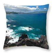 Azores Islands Ocean Throw Pillow